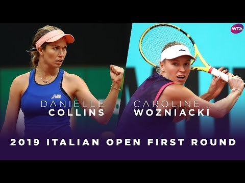 Danielle Collins vs. Caroline Wozniacki | 2019 Italian Open First Round | WTA Highlights
