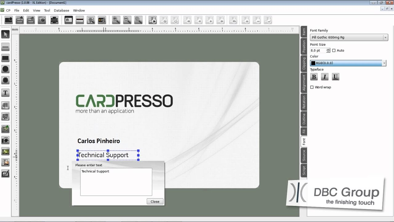 Create business cards cardpresso tutorial youtube magicingreecefo Choice Image