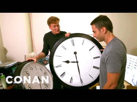 Conan Catches Jordan Schlansky Coming In Late