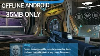 (35mb) BEST FPS OFFLINE ANDROID game with action, science fiction for free download