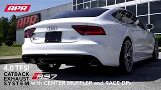 APR RS7 Catback Exhaust System with Center Muffler