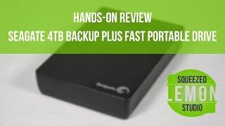 Review Seagate 4TB Backup Plus Fast Portable Drive - Squeezed Lemon Studio