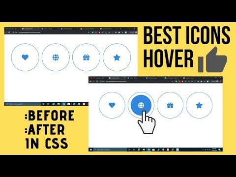 Awesome Icons Hover Effects Using CSS Before After Pseudo Elements