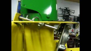 John Deere 44 snowblower Electric Steel Chute Modification