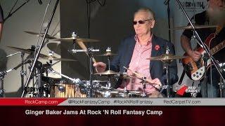 ginger baker jams at rock n roll fantasy camp