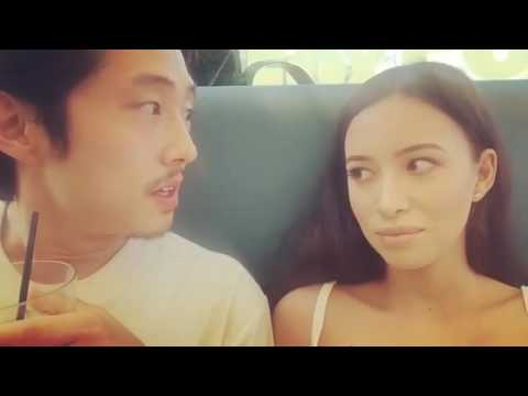 Steven Yeun & Christian Serratos