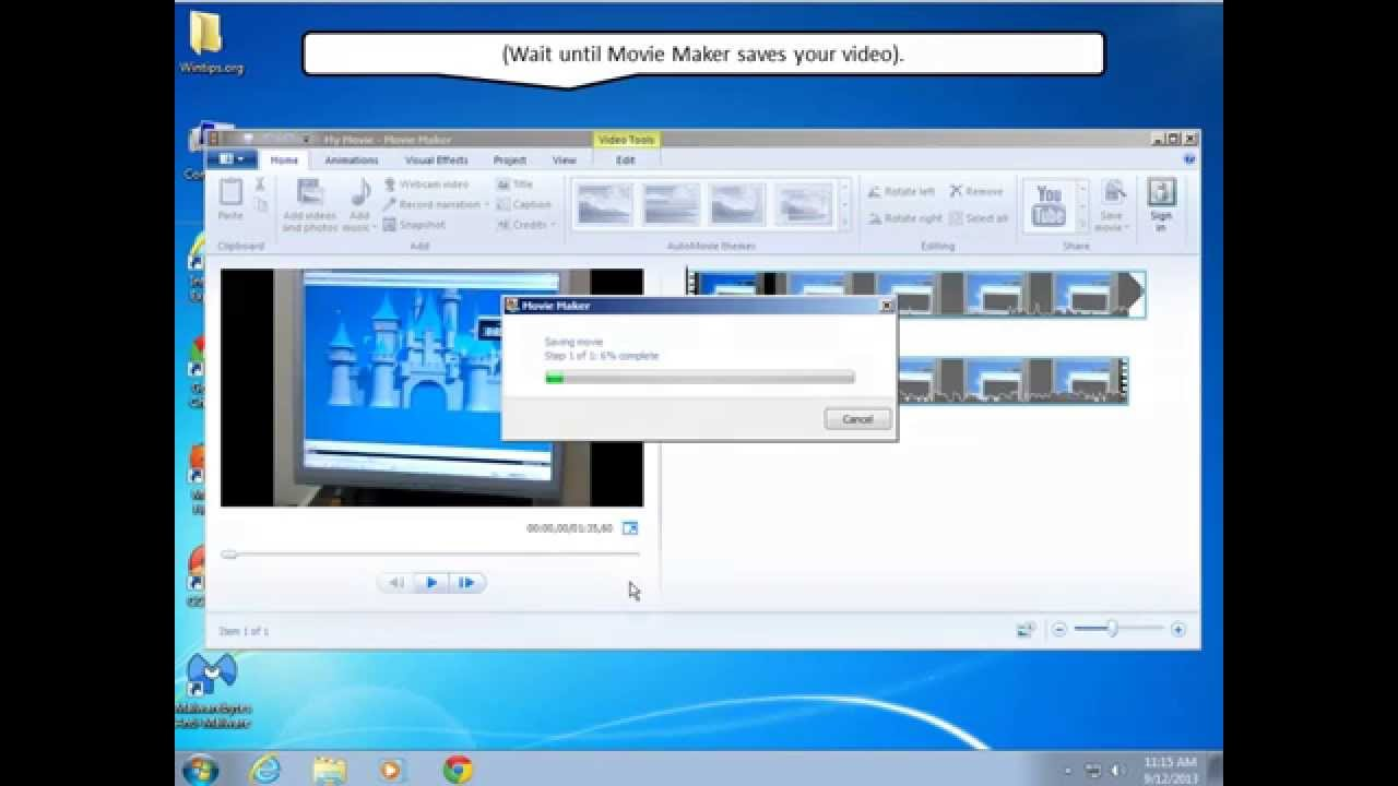 Rotate save video using windows movie maker youtube rotate save video using windows movie maker ccuart Images