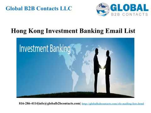 Hong Kong Investment Banking Email list