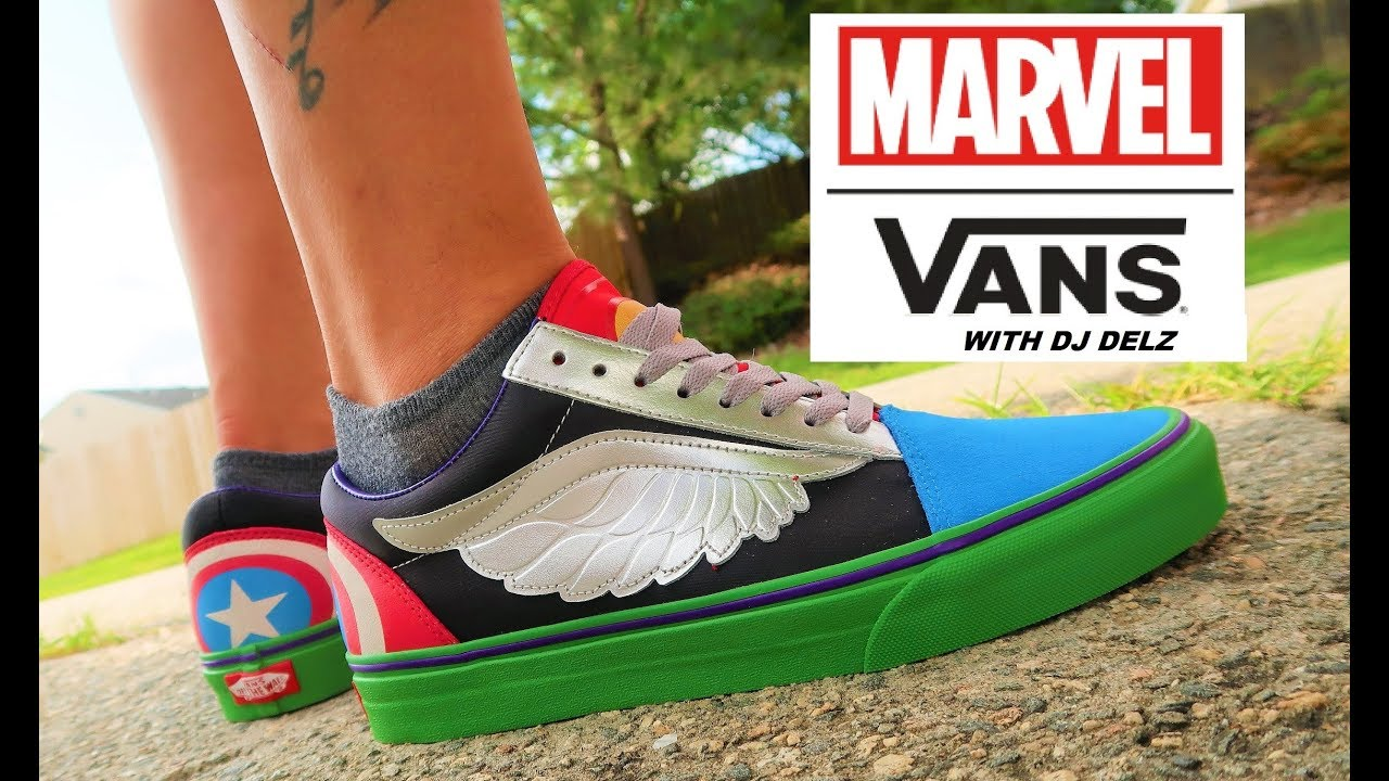 Marvel Vans What The Avengers Old Skool Shoe Unboxing Review On Feet With Dj Delz