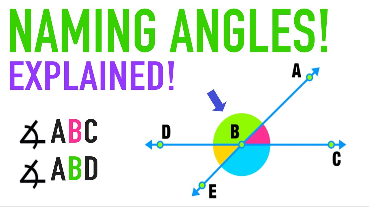 Angle Properties: Naming Angles with Letters Explained! - YouTube [ 720 x 1280 Pixel ]