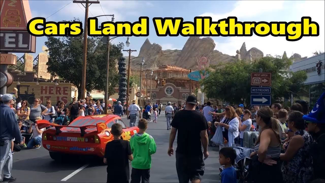 Disney S California Adventure Cars Land Walkthrough Disneyland Youtube