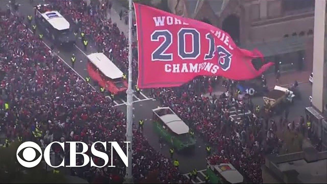 598ef5894b6767 Boston parade celebrates Red Sox World Series win - YouTube