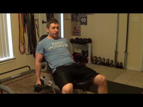 How to Perform DB Incline Curls