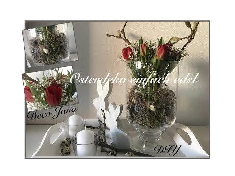 Diy Osterliche Blumendeko Tischdeko Mit Tulpen Und Magnolie Deko