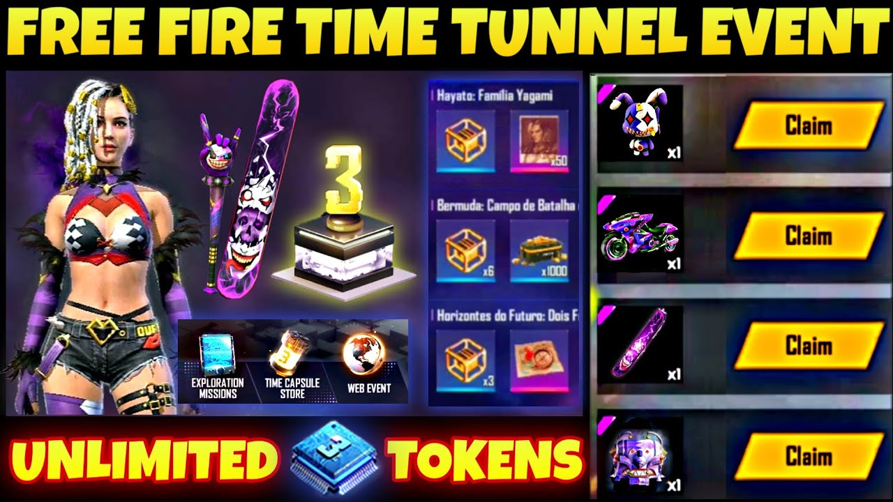 FREE FIRE TIME TUNNEL EVENT DETAILS | EXPLORATION MISSIONS NOT OPENING | FREE FIRE NEW EVENT 2020