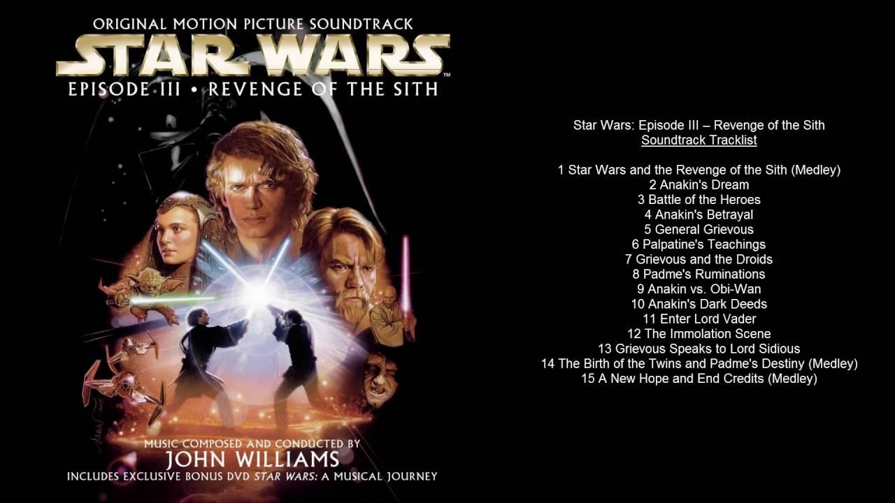 Star Wars Episode Iii Revenge Of The Sith Soundtrack Tracklist Youtube