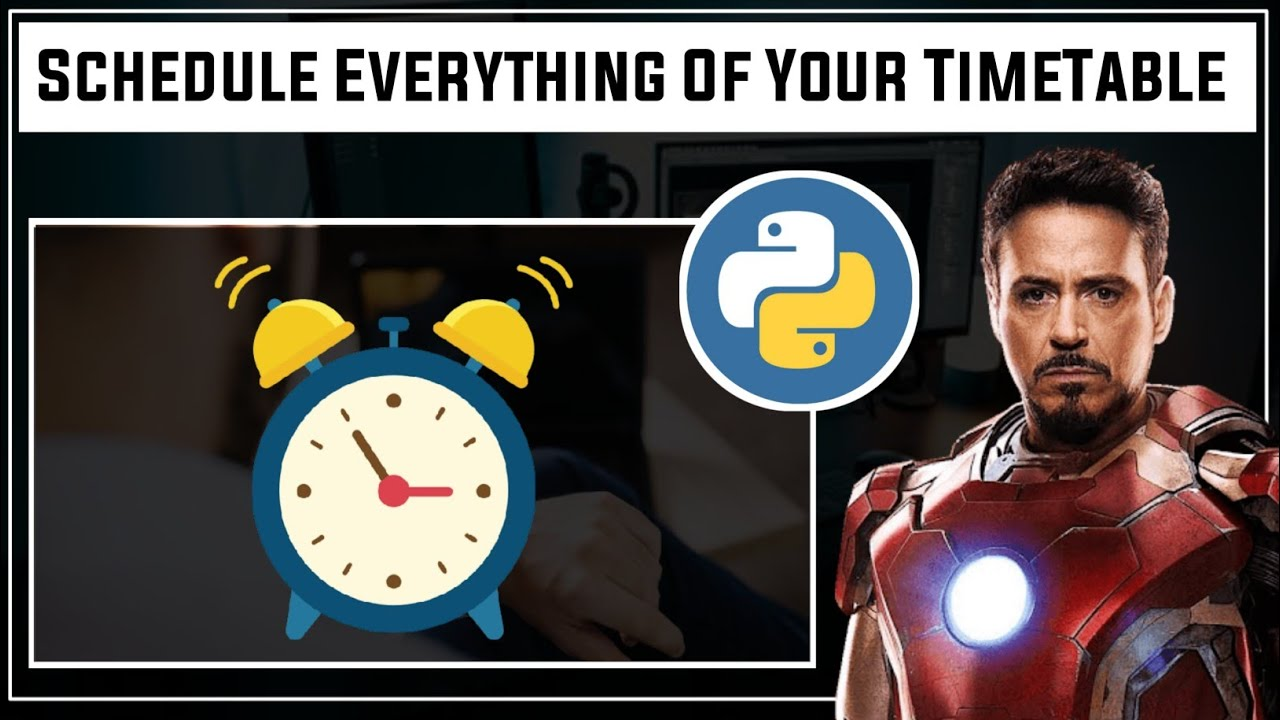Timetable - Schedule Your Day Using Python   How To Make Jarvis In Python   Jarvis Python