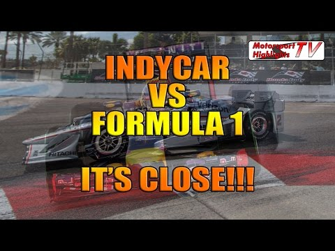 IndyCar vs Formula 1 Comparison It's Close Real Footage