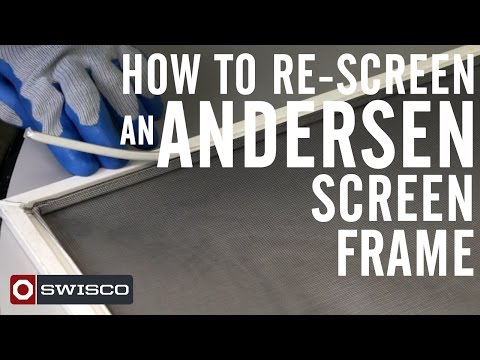 How to Re-screen an Andersen Window Screen [1080p]