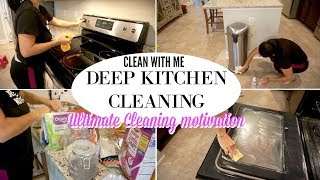 CLEAN WITH ME | DEEP KITCHEN CLEANING | CLEANING MOTIVATION
