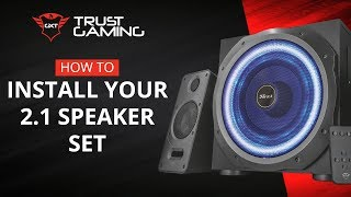How To Install Your 2.1 Trust Gaming Speaker Set