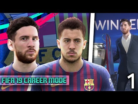 FIFA 19 Barcelona Career Mode: EDEN HAZARD SIGNS FOR BARCELONA😱 Episode #1
