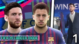 FIFA 19 Barcelona Career Mode: EDEN HAZARD SIGNS FOR BARCELONA😱 Episode #1