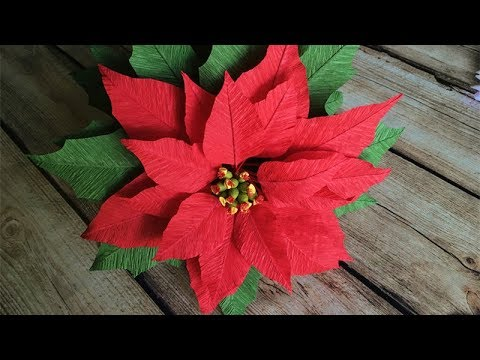 Abc Tv How To Make Poinsettia Paper Flower From Crepe Paper Craft Tutorial