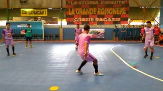 indonesia driil for passing,control and body position futsal by Donzol Part1