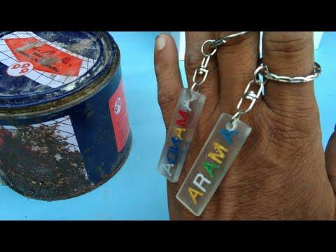 Cara membuat gantungan kunci dari resin