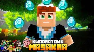 KWADRATOWA MASAKRA #03 - DOSTAŁEM MNÓSTWO DIAMENTÓW!   Minecraft Vertez