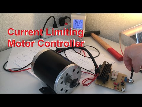Dc motor controller with schematic with active current for Dc motor current limiter