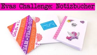 DIY Inspiration Challenge #14 Notizbücher | Evas Challenge | Tutorial - Do it yourself