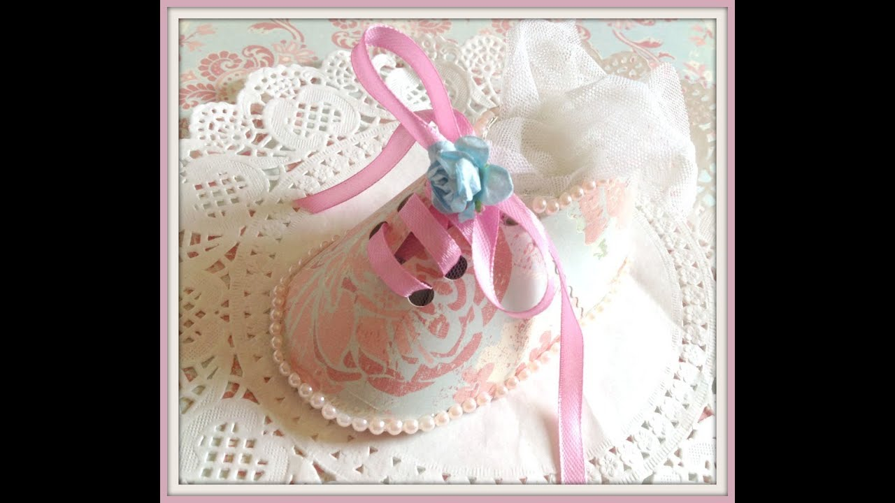 Baby Shower Shoe Shaped Party Favour Tutorial