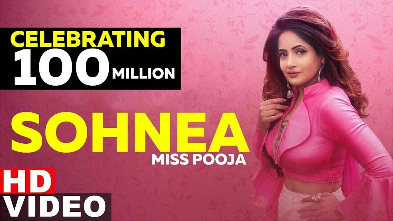 Crossed 100M Views | Sohnea | Miss Pooja | Latest Punjabi Songs 2019 | Speed records