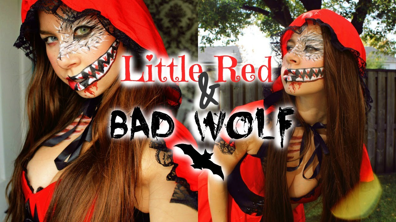 Little Red Riding Hood & Bad Wolf Makeup | Halloween 2015 ☾ - YouTube