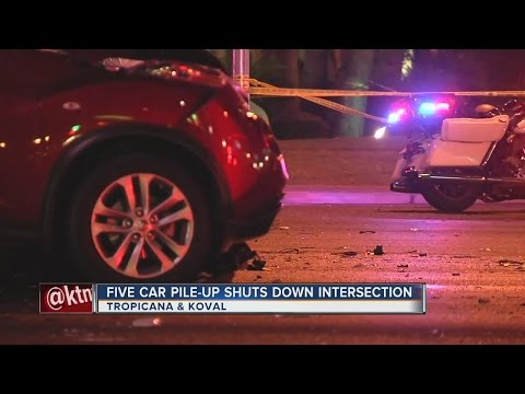 One dead after five-car pile-up near the Las Vegas Strip