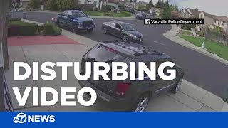 Car follows girl through Northern California neighborhood