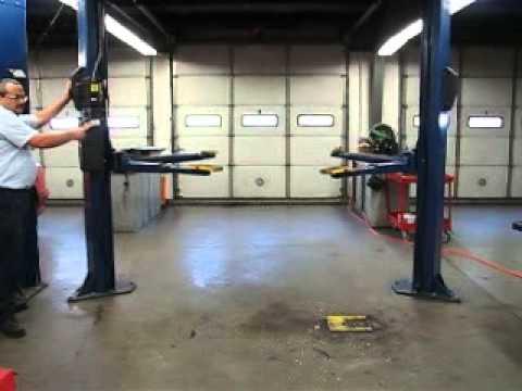 Lot 5 New Albany-Floyd Co (Prosser) School Surplus - Rotary Lift SPOA7  2-Post Lift