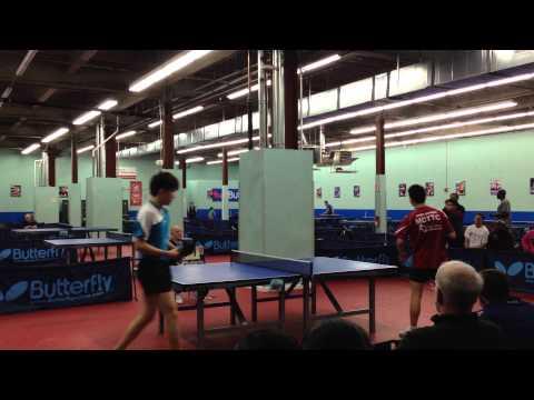Bowen Chen vs Alex Ruichao Chen MDTTC Butterfly Cup April, 2014 Final Set 3