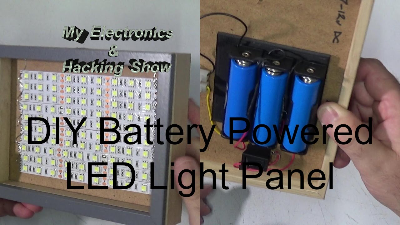 diy battery powered portable led light panel mehs episode 54 youtube. Black Bedroom Furniture Sets. Home Design Ideas