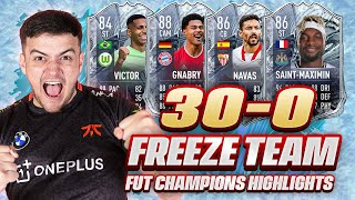 I GOT 30-0 ON FUT CHAMPIONS USING FREEZE PLAYERS ONLY ON FIFA 21!!