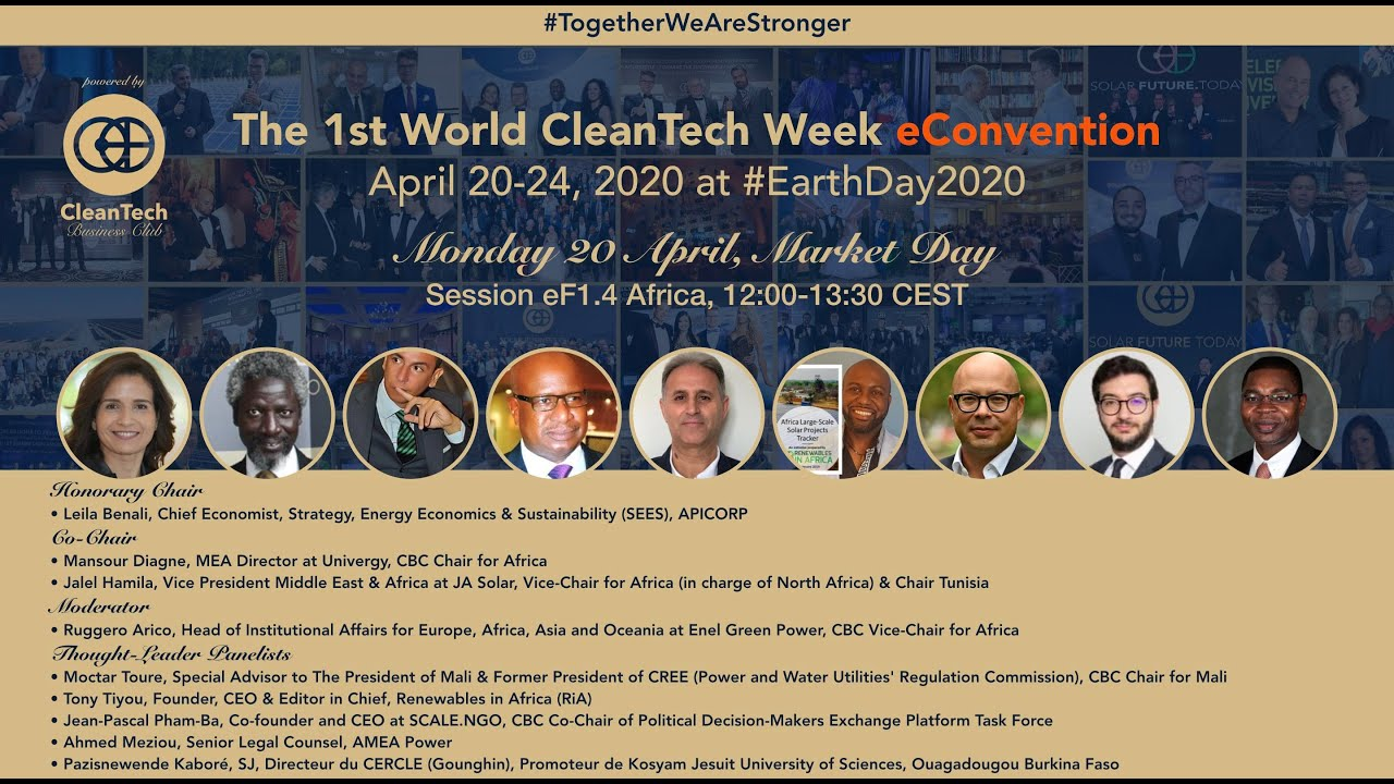 #Solar & #CleanTech Market in Africa at The 1st World CleanTech Week eConvention #1stWCWeC