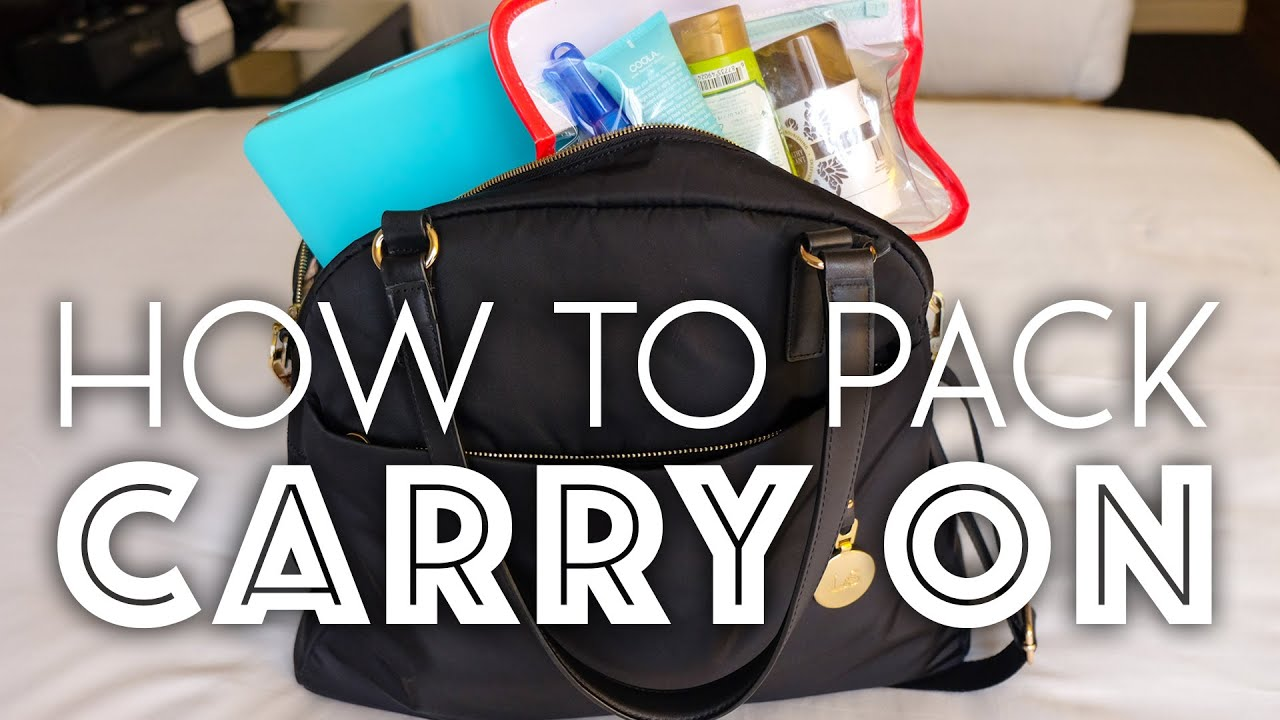 27486c2ff643 How to Pack the Perfect Carry-on Bag - YouTube