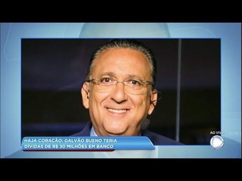 Hora da Venenosa: Galvão Bueno teria dívida de R$ 30 milhões