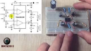Montaje paso a paso de un Amplificador de audio  (protoboard)