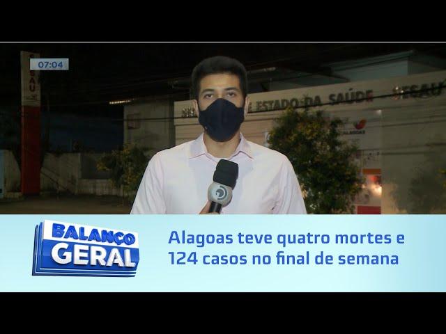 Registro Covid-19: Alagoas teve quatro mortes e 124 casos no final de semana