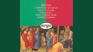 britten rejoice in the lamb op30 rejoice in god o ye tongues