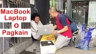 Pinoy SOCIAL EXPERIMENT: MacBook Laptop o Pagkain (Homeless)
