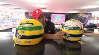 Hamilton explains special Senna tribute helmet [BBC] F1 2011 Brazilian GP